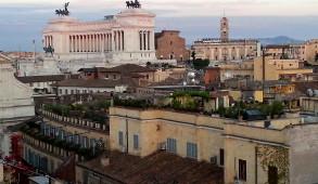 Roma al tramonto